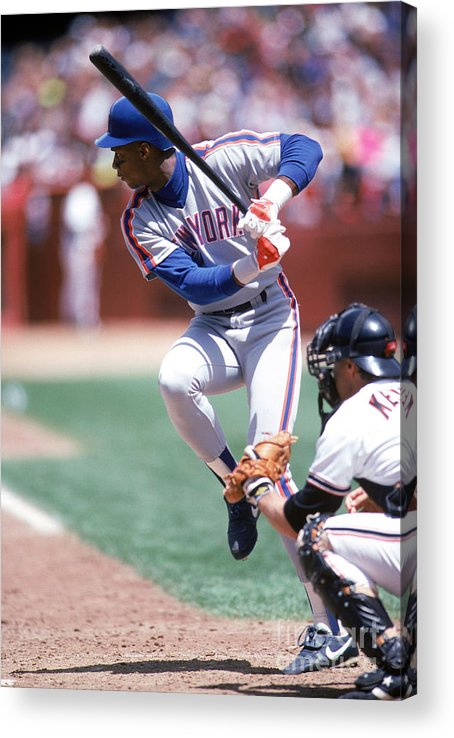 Sports Bat Acrylic Print featuring the photograph Darryl Strawberry by Michael Zagaris