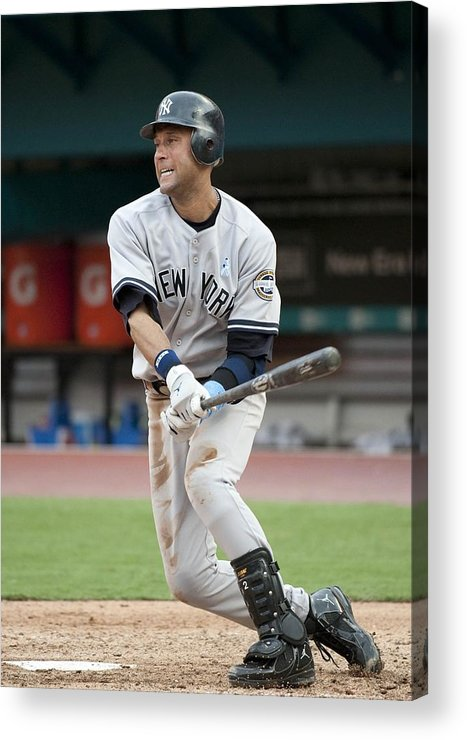 People Acrylic Print featuring the photograph Derek Jeter by Ronald C. Modra/sports Imagery