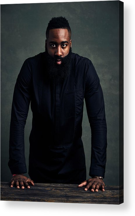 Event Acrylic Print featuring the photograph James Harden by Jennifer Pottheiser