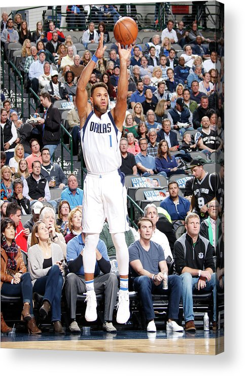 Nba Pro Basketball Acrylic Print featuring the photograph Justin Anderson by Danny Bollinger