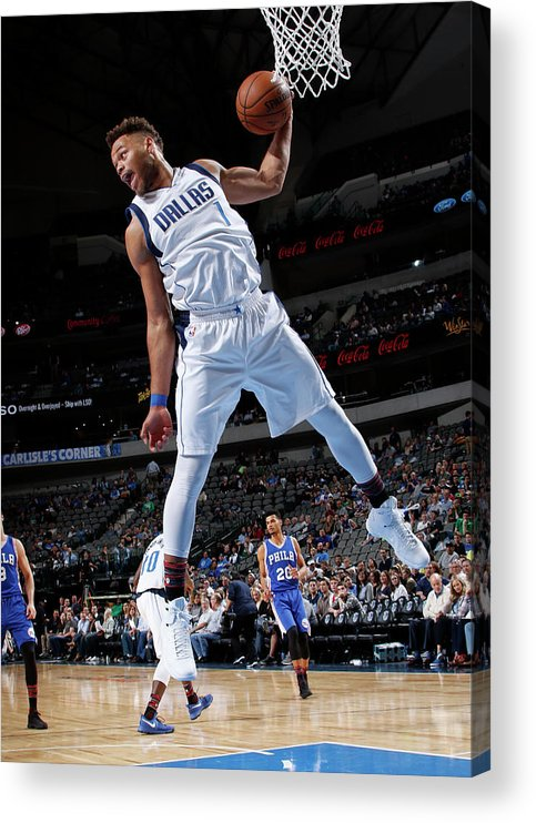 Nba Pro Basketball Acrylic Print featuring the photograph Justin Anderson by Glenn James