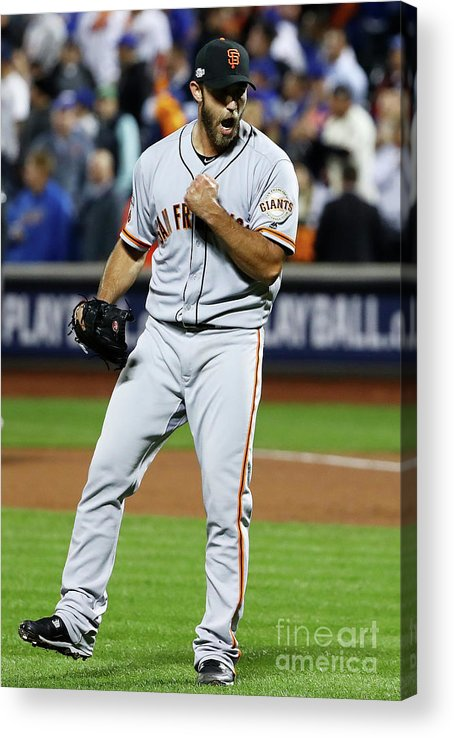 Playoffs Acrylic Print featuring the photograph Madison Bumgarner by Al Bello