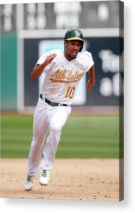 People Acrylic Print featuring the photograph Marcus Semien by Ezra Shaw