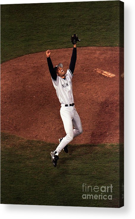 Relief Acrylic Print featuring the photograph Mariano Rivera by Vincent Laforet