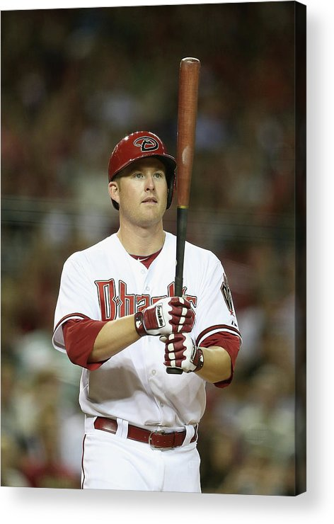 National League Baseball Acrylic Print featuring the photograph Mark Trumbo by Christian Petersen
