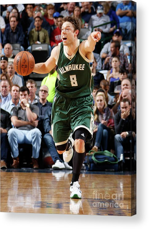Nba Pro Basketball Acrylic Print featuring the photograph Matthew Dellavedova by Danny Bollinger