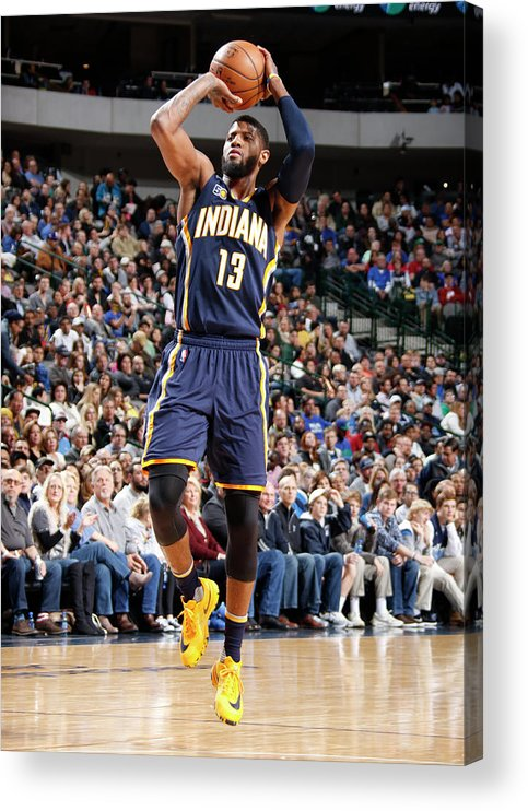 Nba Pro Basketball Acrylic Print featuring the photograph Paul George by Danny Bollinger