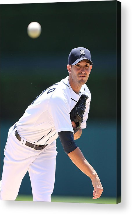 American League Baseball Acrylic Print featuring the photograph Rick Porcello by Leon Halip