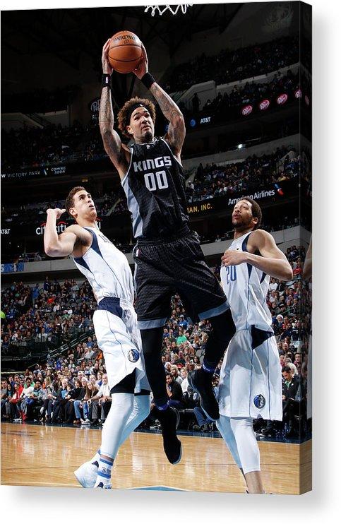 Nba Pro Basketball Acrylic Print featuring the photograph Willie Cauley-stein by Glenn James