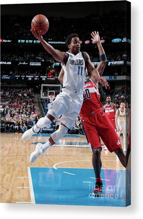 Nba Pro Basketball Acrylic Print featuring the photograph Yogi Ferrell by Glenn James