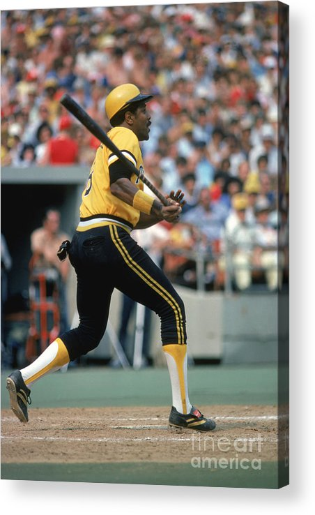 Motion Acrylic Print featuring the photograph Willie Stargell by Rich Pilling