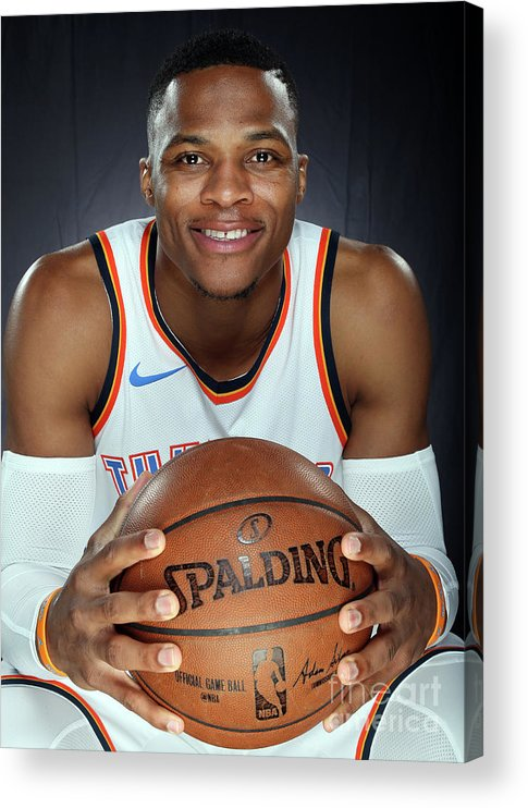 Media Day Acrylic Print featuring the photograph Russell Westbrook by Layne Murdoch