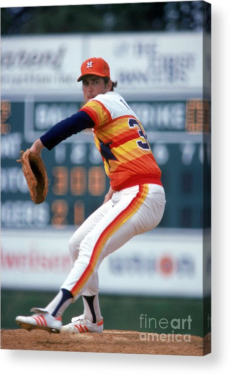 1980-1989 Acrylic Print featuring the photograph Nolan Ryan by Rich Pilling