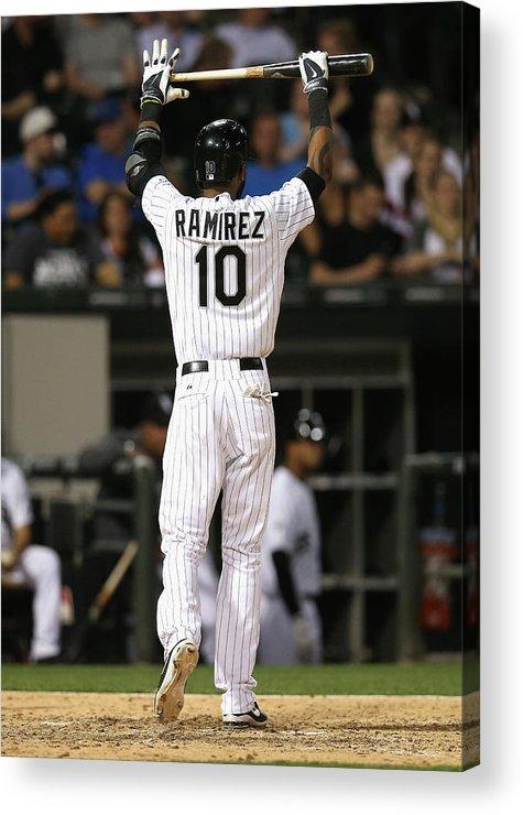 American League Baseball Acrylic Print featuring the photograph Alexei Ramirez by Jonathan Daniel