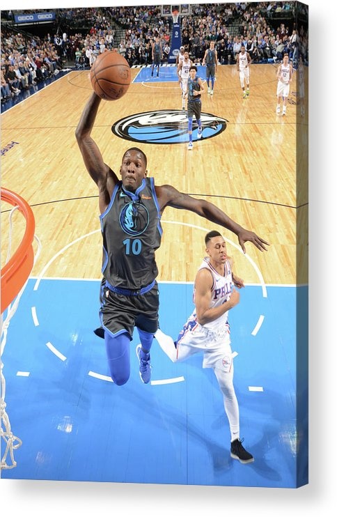 Nba Pro Basketball Acrylic Print featuring the photograph Dorian Finney-smith by Glenn James