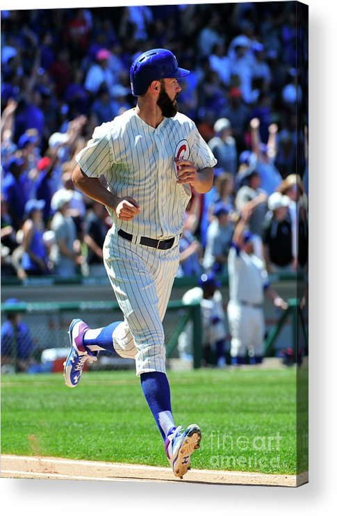 People Acrylic Print featuring the photograph Jake Arrieta by David Banks