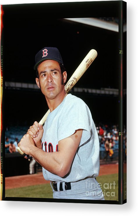 American League Baseball Acrylic Print featuring the photograph Luis Aparicio by Louis Requena