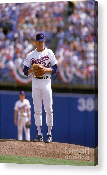American League Baseball Acrylic Print featuring the photograph Nolan Ryan by Rich Pilling