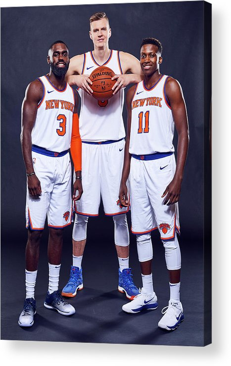 Media Day Acrylic Print featuring the photograph Tim Hardaway by Jennifer Pottheiser