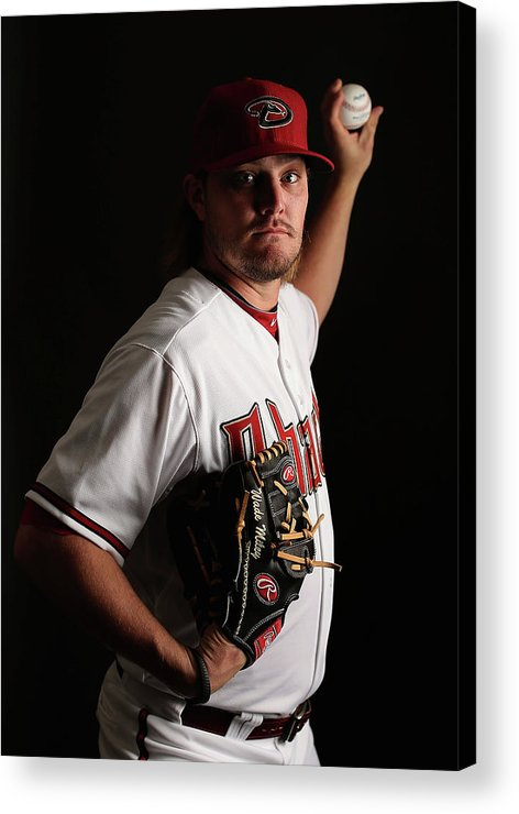 Media Day Acrylic Print featuring the photograph Wade Miley by Christian Petersen
