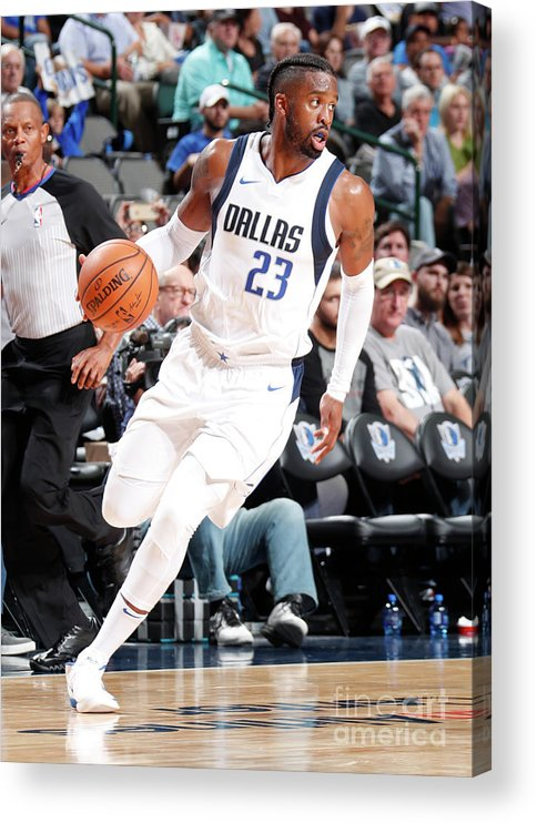 Nba Pro Basketball Acrylic Print featuring the photograph Wesley Matthews by Danny Bollinger