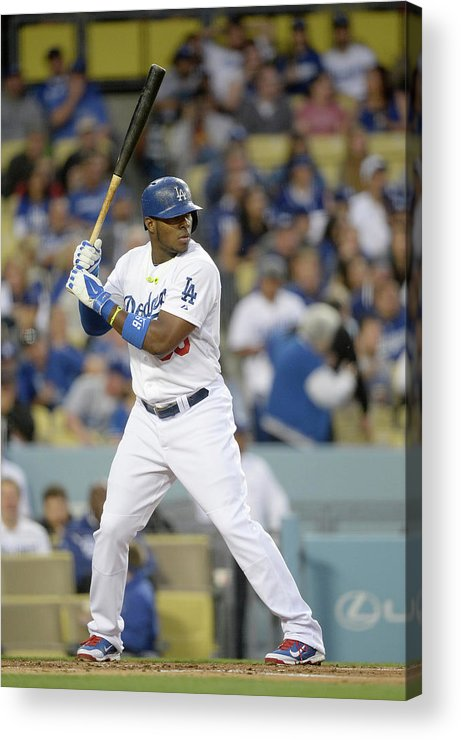California Acrylic Print featuring the photograph Yasiel Puig by Harry How