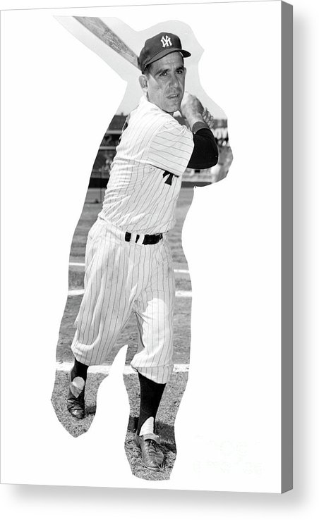 People Acrylic Print featuring the photograph Yogi Berra by Kidwiler Collection