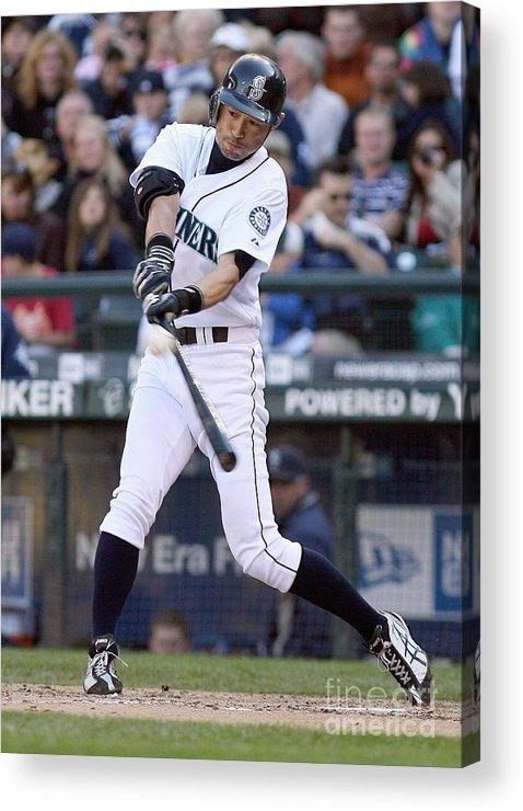 American League Baseball Acrylic Print featuring the photograph Ichiro Suzuki by Otto Greule Jr