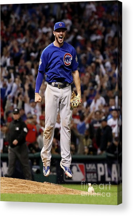 People Acrylic Print featuring the photograph Kris Bryant by Ezra Shaw