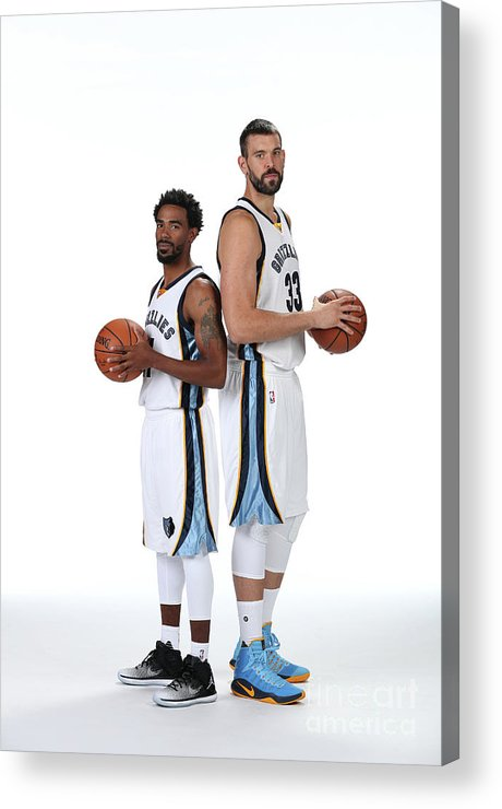 Media Day Acrylic Print featuring the photograph Mike Conley by Joe Murphy