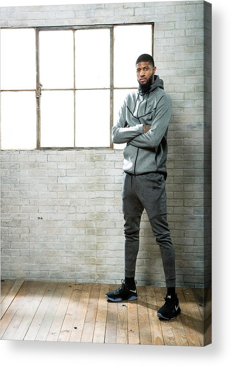 Nba Pro Basketball Acrylic Print featuring the photograph Paul George by Nathaniel S. Butler