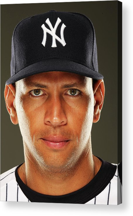 Media Day Acrylic Print featuring the photograph Alex Rodriguez by Al Bello