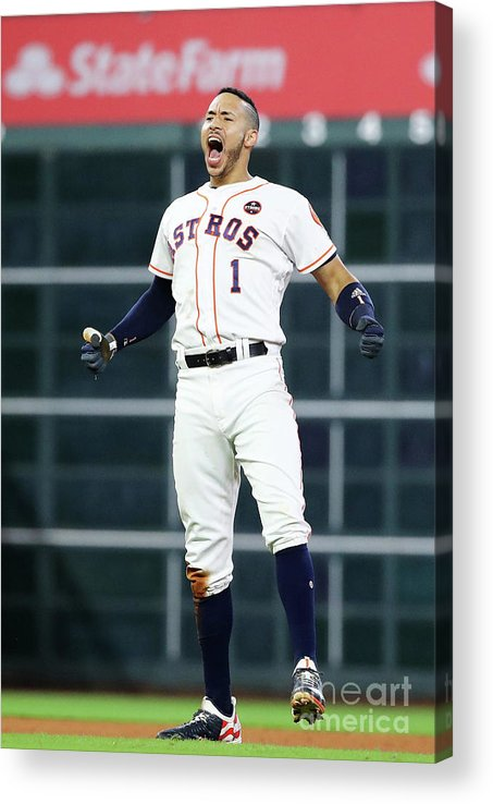 Game Two Acrylic Print featuring the photograph Carlos Correa by Elsa