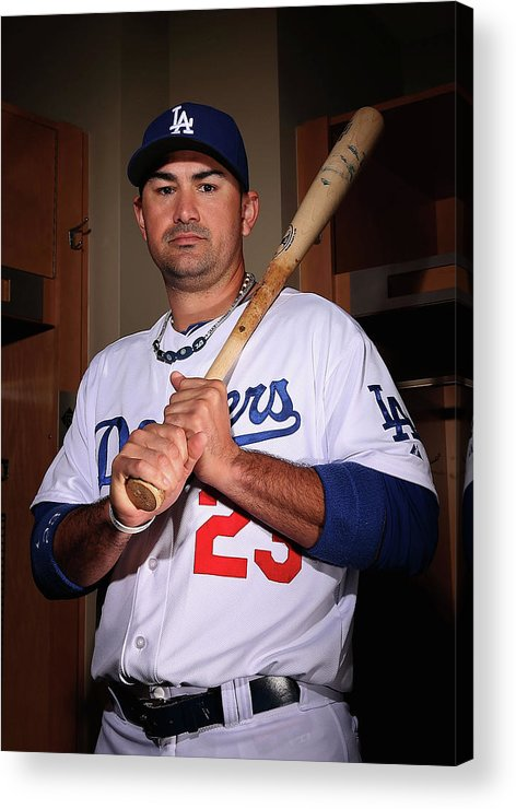 Media Day Acrylic Print featuring the photograph Adrian Gonzalez by Christian Petersen