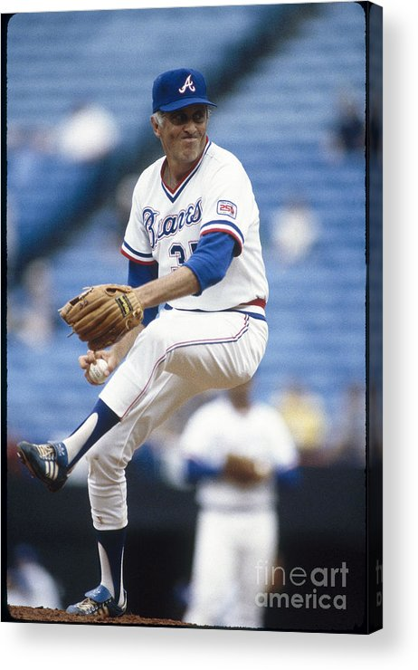 Atlanta Acrylic Print featuring the photograph Phil Niekro by Rich Pilling
