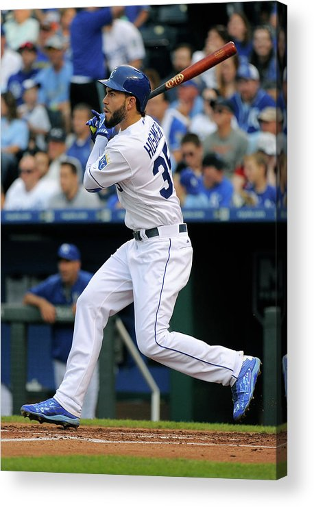 People Acrylic Print featuring the photograph Eric Hosmer by Ed Zurga