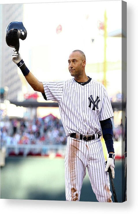 Crowd Acrylic Print featuring the photograph Derek Jeter by Elsa