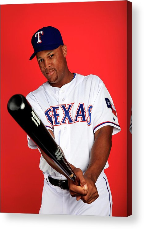 Media Day Acrylic Print featuring the photograph Adrian Beltre by Jamie Squire