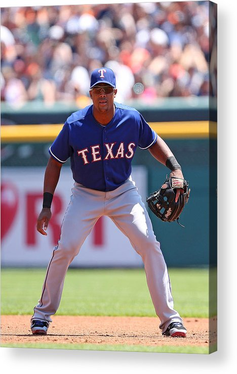 Adrian Beltre Acrylic Print featuring the photograph Adrian Beltre by Leon Halip