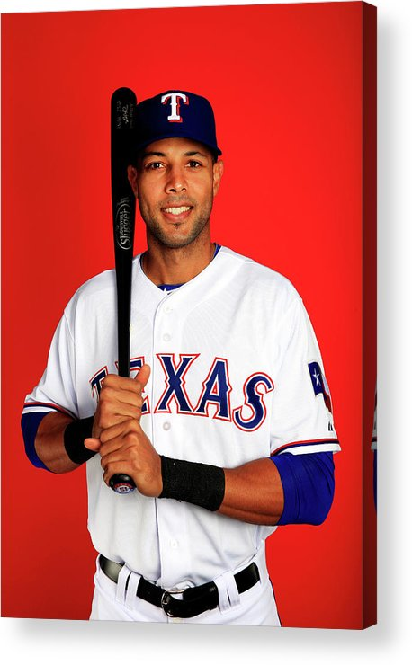 Media Day Acrylic Print featuring the photograph Alex Rios by Jamie Squire