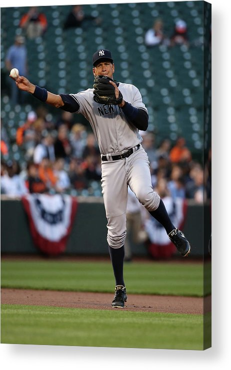 People Acrylic Print featuring the photograph Alex Rodriguez by Rob Carr