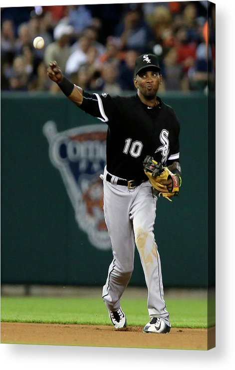 People Acrylic Print featuring the photograph Alexei Ramirez and Ian Kinsler by Duane Burleson