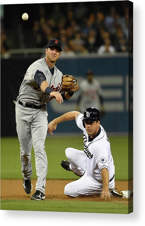 Andrew Romine Acrylic Print featuring the photograph Andrew Romine and Seth Smith by Denis Poroy