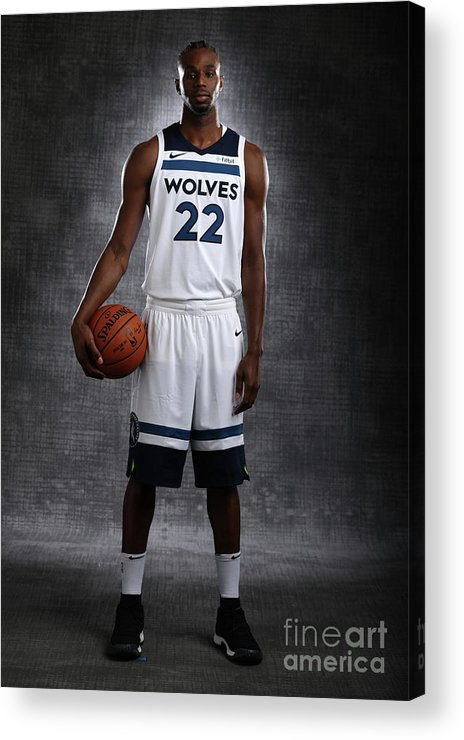 Media Day Acrylic Print featuring the photograph Andrew Wiggins by David Sherman