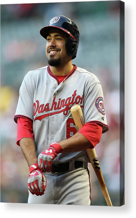 National League Baseball Acrylic Print featuring the photograph Anthony Rendon by Christian Petersen