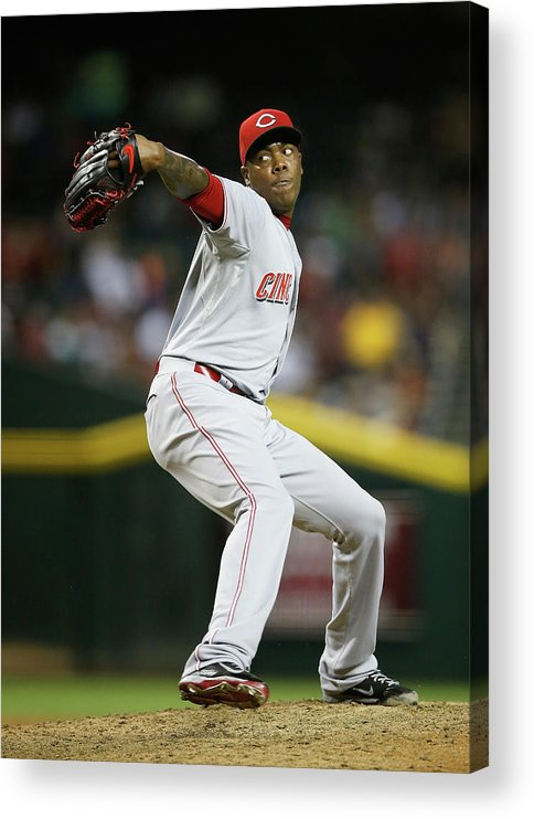 Relief Pitcher Acrylic Print featuring the photograph Aroldis Chapman by Christian Petersen