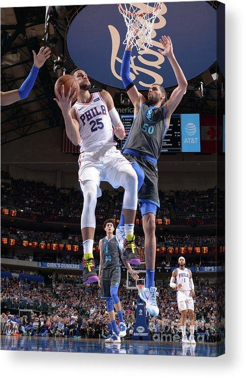 Nba Pro Basketball Acrylic Print featuring the photograph Ben Simmons by Glenn James