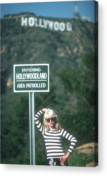 Singer Acrylic Print featuring the photograph Blondie Portrait Session At The by Michael Ochs Archives