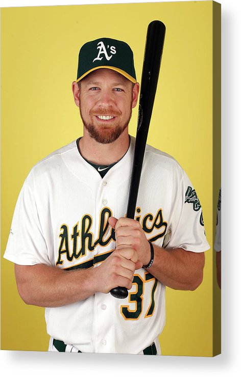 Media Day Acrylic Print featuring the photograph Brandon Moss by Christian Petersen