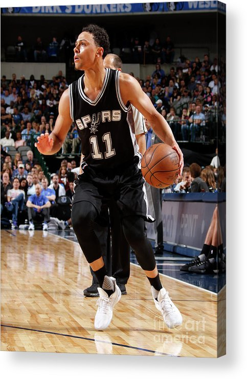 Nba Pro Basketball Acrylic Print featuring the photograph Bryn Forbes by Danny Bollinger